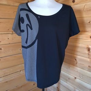 Zumba slouchy Top Large Black